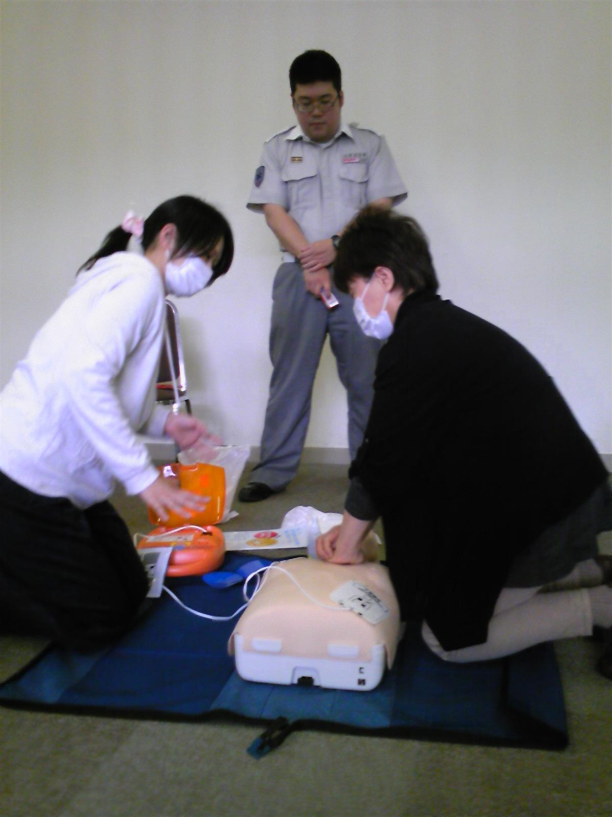 本日は救命救急講習です。