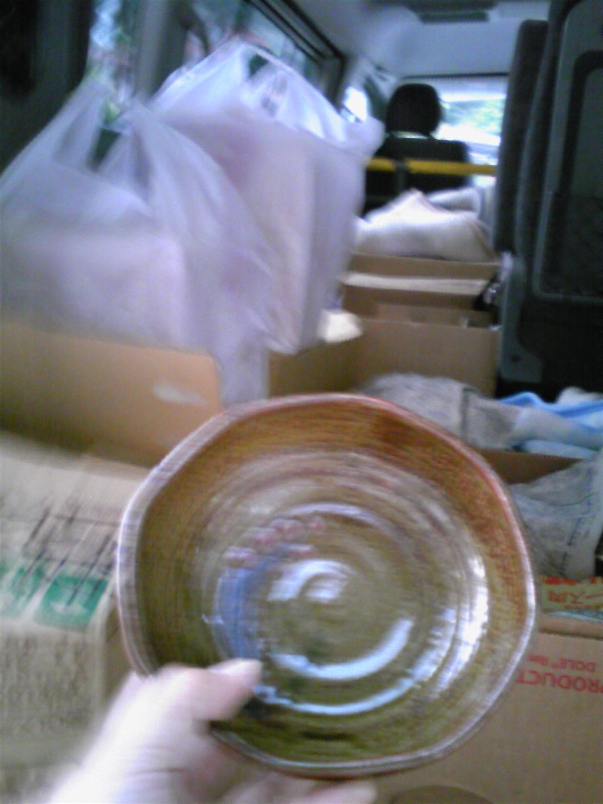 完成した食器をとりに来ましたo<br />  (^-^)o