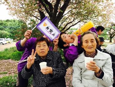 お花見会in天平の丘